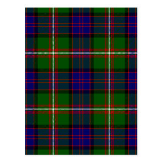 Scottish Clan MacDonald of Clanranald Tartan Postcard