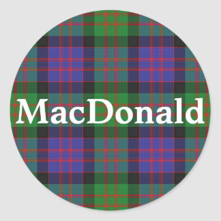 Scottish Clan MacDonald Tartan Plaid Classic Round Sticker