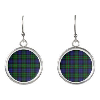 Scottish Clan MacEwen Tartan Plaid Earrings