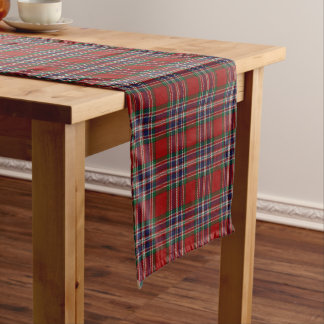 Scottish Clan MacFarlane McFarland Tartan Plaid Short Table Runner