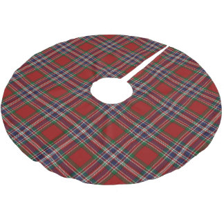 scottish clan macfarlane red blue tartan brushed polyester tree skirt - Blue Christmas Tree Skirt
