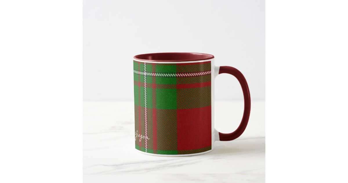 Scottish Clan Macgregor Tartan Designer Mugs Zazzle