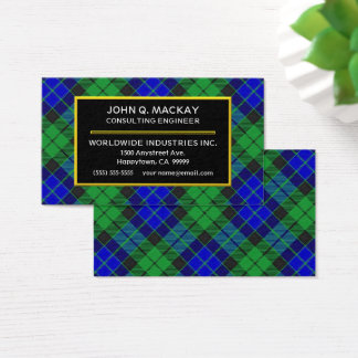 Scottish Clan MacKay Tartan Plaid Business Card