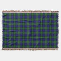 Scottish Clan MacKay Tartan Throw Blanket