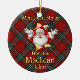 Scottish Clan MacLean Christmas Ornament