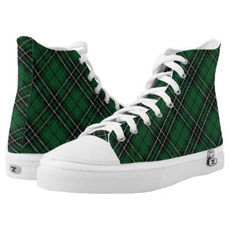 Scottish Clan MacLean Hunting Tartan Plaid Printed Shoes