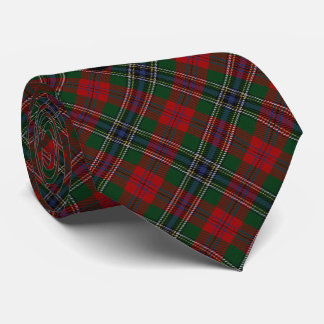 Scottish Clan MacLean M Monogram Tartan Tie