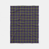 Scottish Clan MacLellan Classic Tartan Fleece Blanket