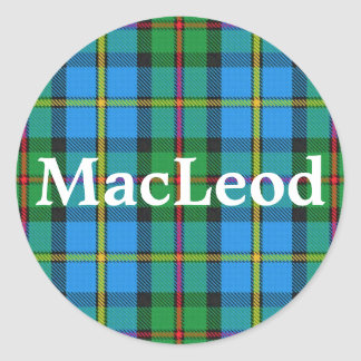 Scottish Clan MacLeod of Harris Tartan Plaid Classic Round Sticker