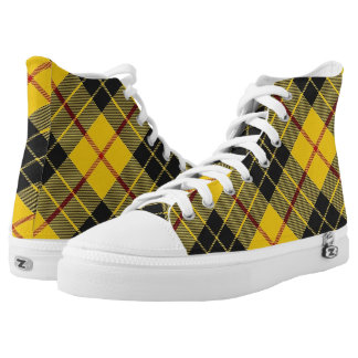Scottish Clan MacLeod of Lewis Tartan Printed Shoes