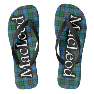 Scottish Clan MacLeod Tartan Flop Flops Flip Flops