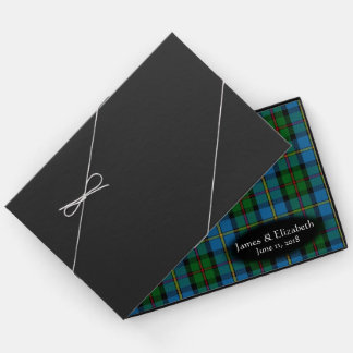 Scottish Clan MacLeod Tartan Plaid Wedding Guest Book