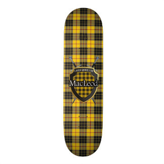 Scottish Clan MacLeod Tartan Shield Skate Board Decks