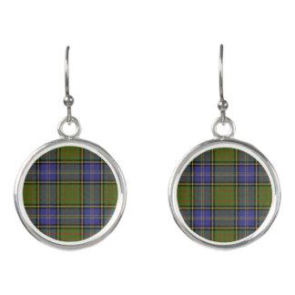 Scottish Clan MacMillan Hunting Tartan Plaid Earrings