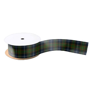 Scottish Clan MacRae Classic Hunting Tartan Satin Ribbon