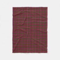 Scottish Clan MacRae Red Classic Tartan Fleece Blanket