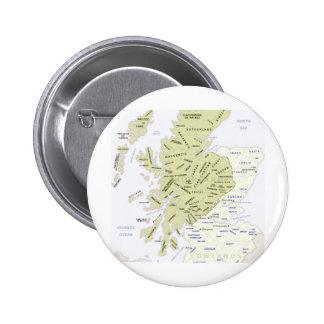 Scottish Clan Map of Scotland 6 Cm Round Badge