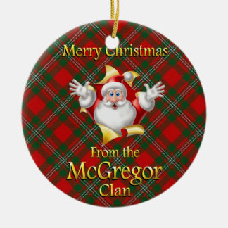 Scottish Clan McGregor Christmas Ornament