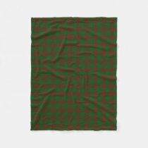 Scottish Clan Menzies Red Green Classic Tartan Fleece Blanket