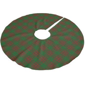 Scottish Clan Menzies Red Green Tartan Brushed Polyester Tree Skirt