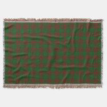 Scottish Clan Menzies Tartan Throw Blanket