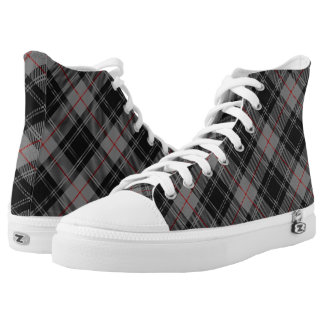 Scottish Clan Moffat Tartan Plaid Printed Shoes