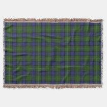Scottish Clan Muir Tartan Throw Blanket
