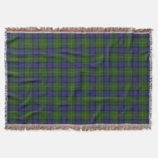 Scottish Clan Muir Tartan Throw Blanket