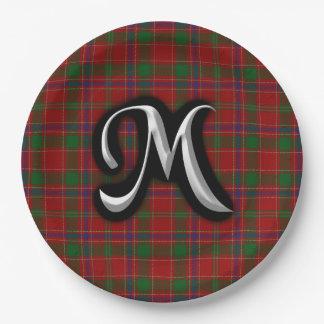 Scottish Clan Munro Tartan 9 Inch Paper Plate
