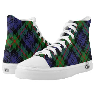 Scottish Clan Murray Tartan Printed Shoes
