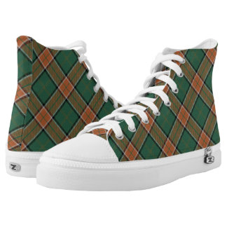 Scottish Clan Pollock Tartan Plaid Printed Shoes
