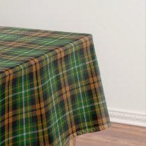 Scottish Clan Ramsay Orange Hunting Tartan Tablecloth