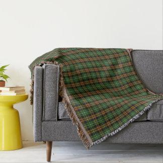 Scottish Clan Ramsay Orange Hunting Tartan Throw Blanket