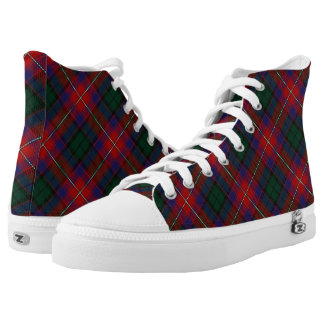Scottish Clan Rattray Red Green Tartan Plaid Printed Shoes
