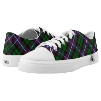 Scottish Clan Russell Tartan Printed Shoes