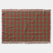 Scottish Clan Scott Tartan Throw Blanket