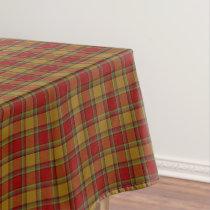 Scottish Clan Scrymgeour Orange Red Tartan Tablecloth
