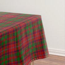 Scottish Clan Shaw Red Green Tartan Tablecloth