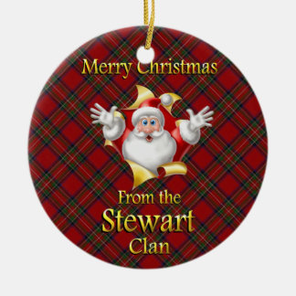 Scottish Clan Stewart Christmas Ornament