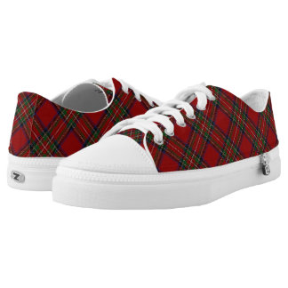 Scottish Clan Stewart Stuart Royal Red Tartan Low Tops