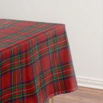 Scottish Clan Stewart Tartan Tablecloth