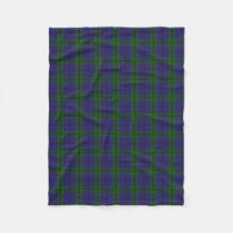 Scottish Clan Strachan Classic Tartan Fleece Blanket