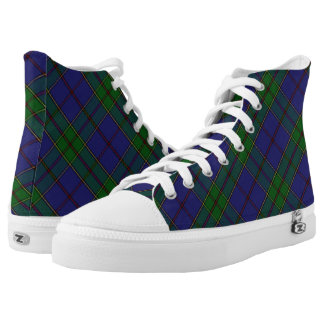 Scottish Clan Strachan Tartan Plaid Printed Shoes