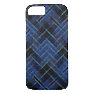 Scottish Clergy Blue Black and White Tartan Plaid iPhone 7 Case