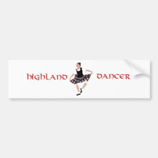 Scottish Country Dancer Bumper Sticker