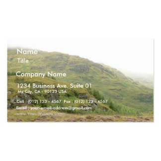 Scottish Countryside Yellow Green Grass Business Cards