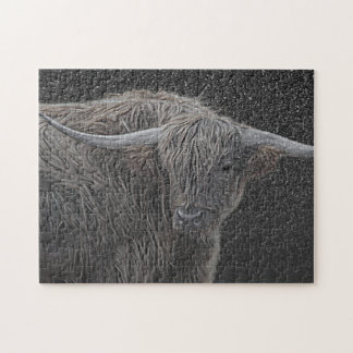 Scottish cow photograph jigsaw puzzle