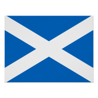 Scottish Cross Scotland Colors Poster