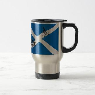 Scottish cycling stainless steel travel mug