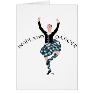 Scottish Dancer Highland Fling Greeting Cards